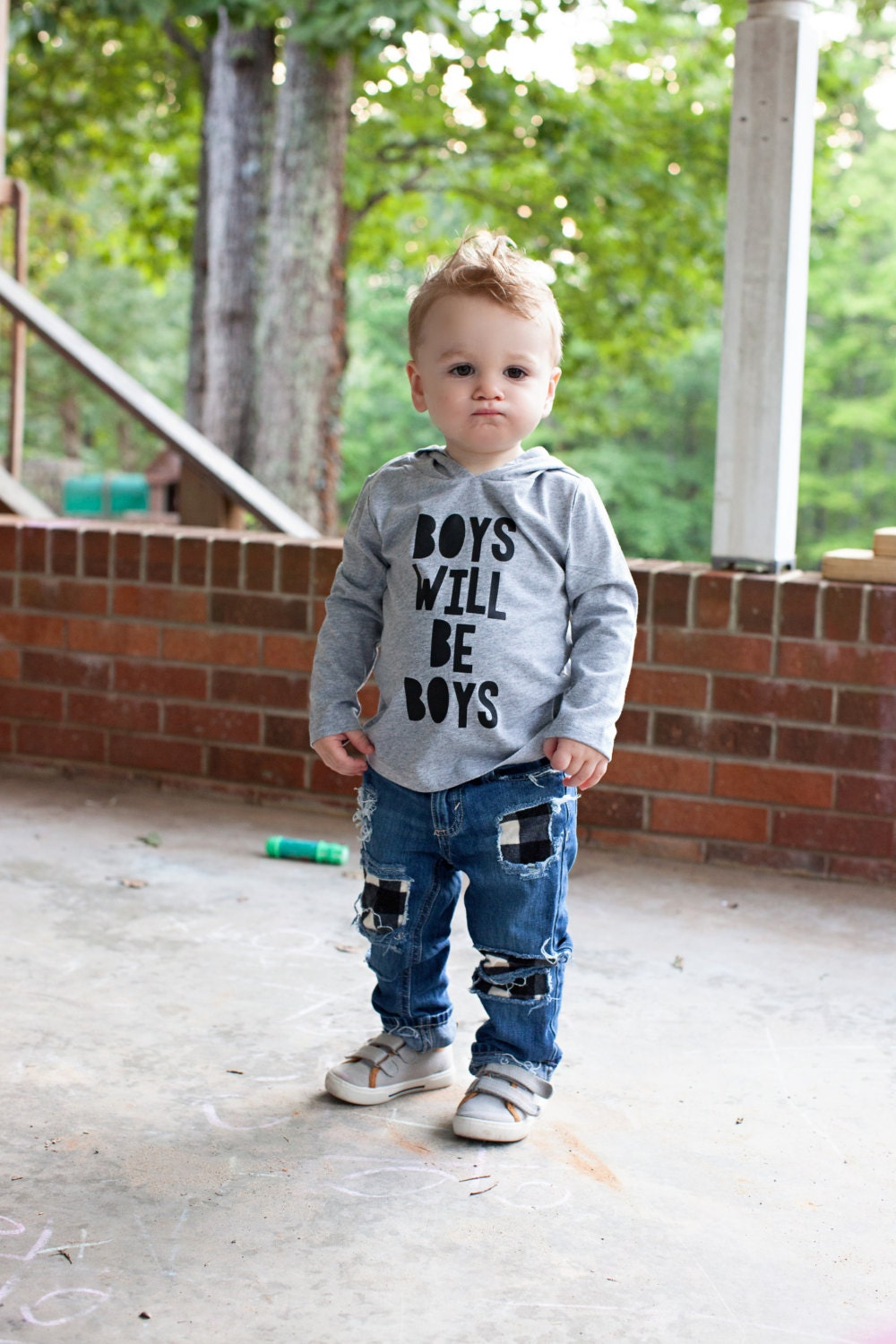 Trendy baby boy clothes Hipster tee Boys will be boys