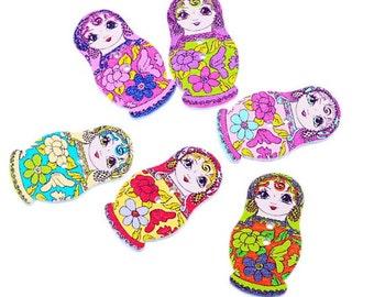 Russian Dolls Pattern Buttons