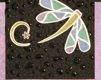 Handmade Dragonfly Thank You card