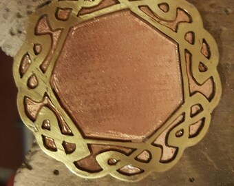 Pendant made of copper and brass by hand