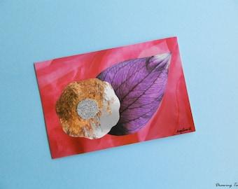 Flower collage postcard