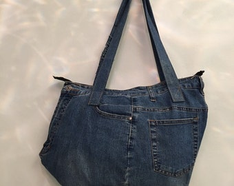 Exclusive Denim Shoulder Bag, Tote Bag