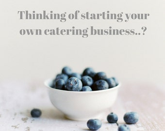 1 Hour Consulting/Coaching for Your New or Established Catering Business