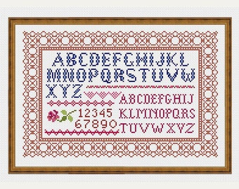 Cross stitch numbers - Cross Stitch Pattern - Cross Stitch Alphabet Pattern - Cross stitch Border - Embroidery-PDF-INSTANT DOWNLOAD