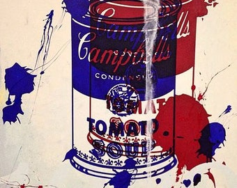 Campbell Soup Painting Acrylic