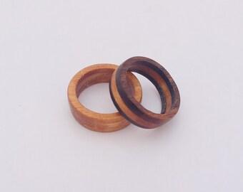 Black Walnut and Oak ring