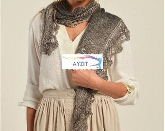 Woman, Aria Wrap, Knitting