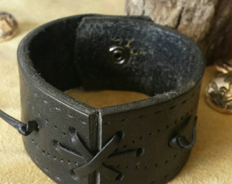 Black stitch design bracelet
