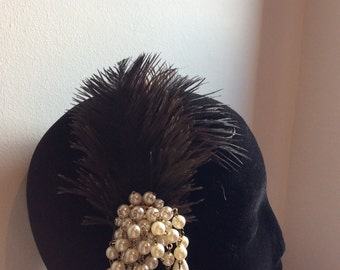 Feather & Pearls - #17 Hairband