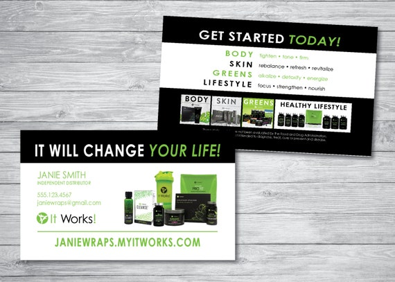 It Works Business Cards by kellibdesignstudio on Etsy