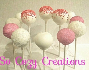 Cake Pops-12 Cake Pop for Birthday, Shower and more Custom Cake Pops available- Party favors and more! Great Father's Day Gift!