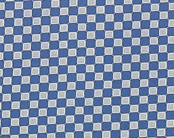BTHY - Ducks in a Row by American Jane for Moda Fabrics, Checkerboard Blueberry 21656 16, by the HALF YARD