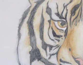 Watercolour Tiger Painting