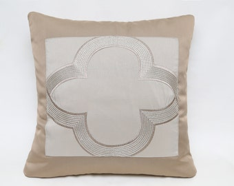 Beige Satin Combined With Flower