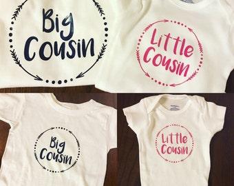 Little cousin big cousin set //Child tops