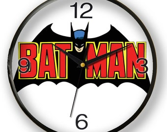 Batman wall clock, awesome gift for comic book's fans and superhero lovers.