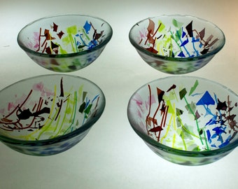 Set of 4 Small Bowls - Confetti spectrum
