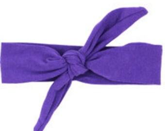 Bright Purple Top Knot Headband