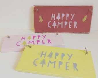 Happy Camper wooden sign