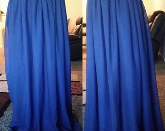 Royal blue chiffon maxi skirt