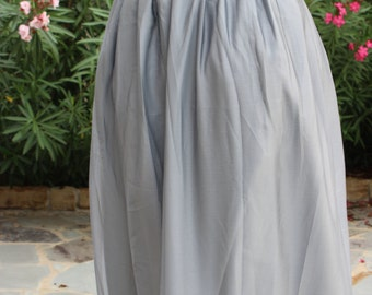 Silver/Light gray Chiffon maxi skirt