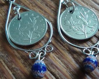 Croatian coins earrings- Split