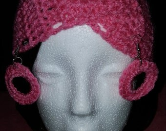 Criss Cross Headband with matching earrings.