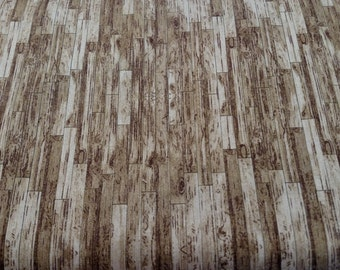 Weathered Plank Fabric by the yard