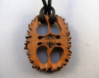 Walnut cross-section pendant