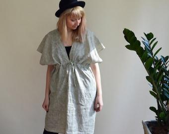 Linen Tunic Dress, Linen Dress, Kimono Tunic, Linen Coverup, Light Dress, Womens Plus size dress, Summer Dress, Kimono Dress