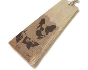 Wooden bookmark - Wood bookmark - dog Bookmark - French Bulldog Bookmark - Bulldog Bookmark - Page marker - Unique bookmark