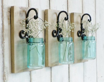 Rustic Wall Vase, set of 3