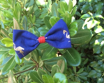 "Noeud papillon ""Blue Flamingo"""