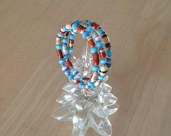 Paper Bead Butterfly accent Bracelet.