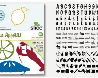 Slice Designcard MS + Bon appetite, slice design cutter