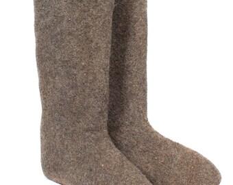 """Soviet Woolen Boots """"Valenki"""" Russian Shoes"""