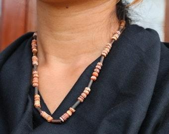Yak Bone Beaded Nepali Necklace 0068