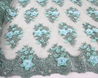 3D flower applique fabric