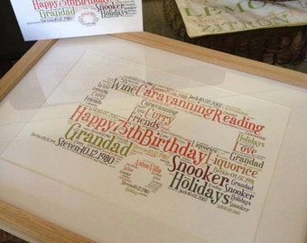 A4 Personalised Word Art Caravan Print (UK ONLY)/Download