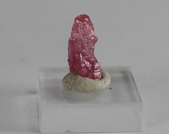 Ruby crystal 1.3 cm x .7 cm x .5 cm .66 g