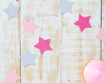 paper star Garland glitter