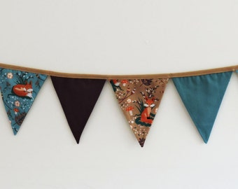 Fox bunting, photogrphy prop, photo prop bunting