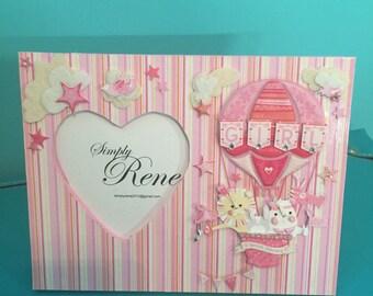 Pink Baby Girl Balloon Frame