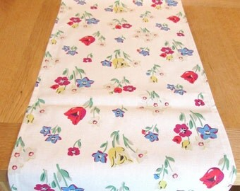Gorgeous CATH KIDSTON Handmade Paradise Fields/Bunch Tablecloth/Runner 148 x 31 Cms/58 Inches 100% Cotton Duck