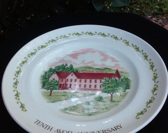 Avon Collectible 10th Anniversary Dealer Plate.