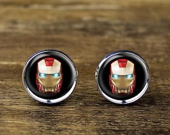 Iron Man cufflinks, Iron Man jewelry, Iron Man accessories