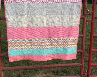 Adorable Pink Sweet Pee Quilt