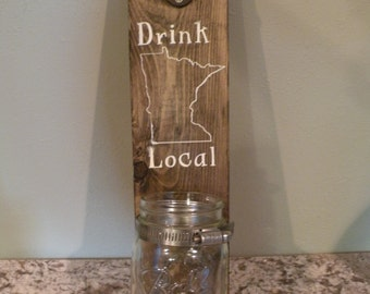 Drink Local wall mounted beer opener