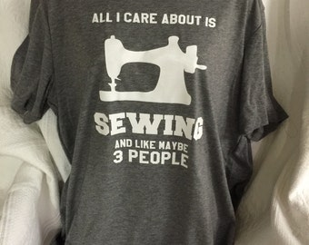 I Like Sewing T Shirt