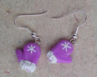 Earrings Gloves purple